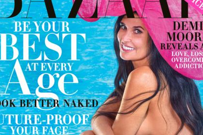 56-летняя голливудская актриса снялась голой и попала на обложку модного журнала