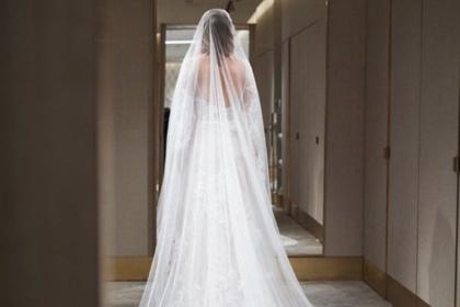 Собчак продемонстрировала подвенечное платье