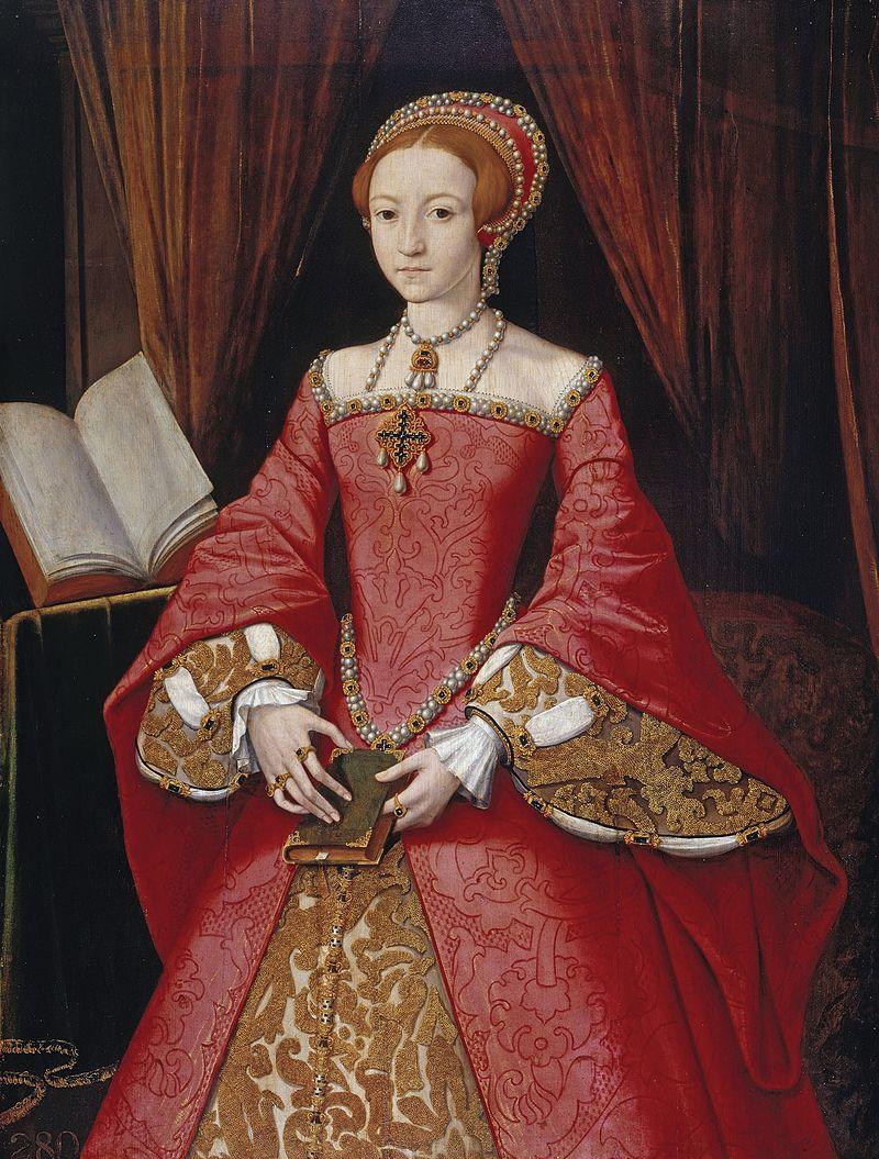 Елизавета в 1546 году. Портрет неизвестного художника.