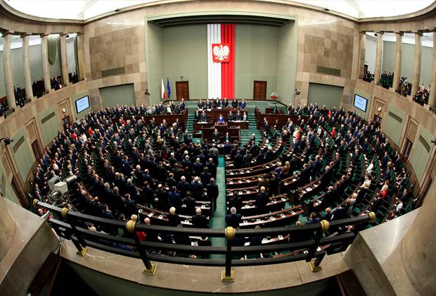 Зал заседаний правительства Польши