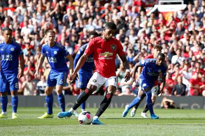 Гол с пенальти принес «Манчестер Юнайтед» вторую победу в нынешнем сезоне АПЛ