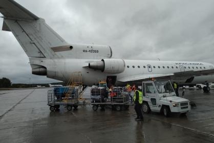 Российский самолет приземлился в аэропорту с отказавшим двигателем