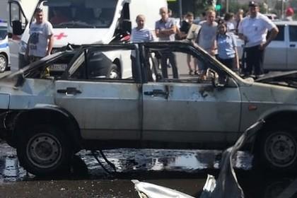 В российском городе взорвался газ в машине с двумя детьми