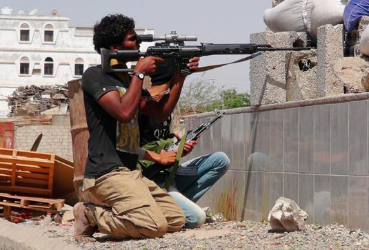 Уличные бои в Йемене