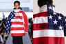 Гвасалия вошел во вкус и продолжил искать способы соединить символику США и России. На спине куртки, раскрашенной в цвета американского флага, откуда ни возьмись появляется нашивка с русским словом «Америка». У этих курток были и другие варианты окраски: в цветах российского и украинского флагов.