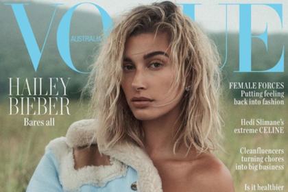 Жена Джастина Бибера снялась топлес для обложки Vogue
