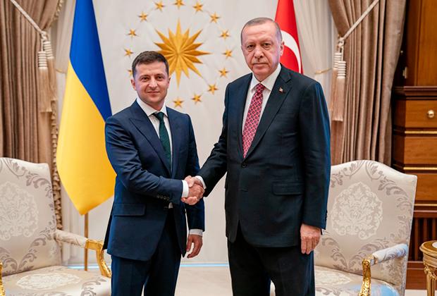 Владимир Зеленский и Реджеп Тайип Эрдоган во время официального визита президента Украины в Турцию