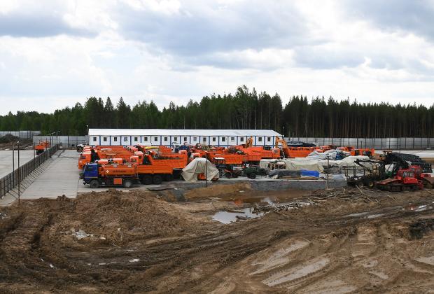 Место строительства полигона для утилизации твердых бытовых отходов «Шиес»