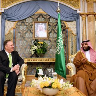 Майк Помпео и Мухаммед ибн Салман Аль Сауд