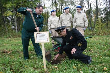 В российском городе заложили аллею в память о погибших в ВОВ