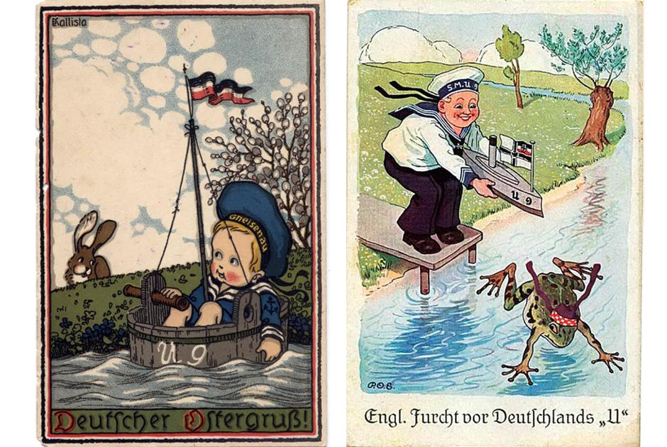 Германские пропагандистские открытки 1914 года