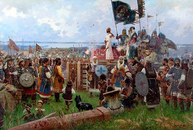 Фрагмент картины Рустема Хузина «Принятие булгарами ислама в 922 году»