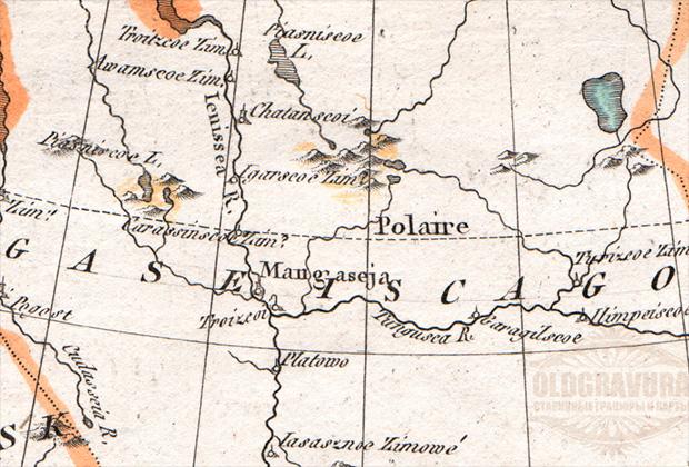 Мангазея на европейской карте