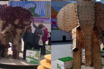 Россияне позарились на бесплатные яблоки и хлопок и испортили арт-объекты