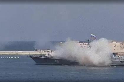 Неудачный запуск ракеты в Севастополе попал на видео