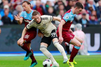 Гол украинского полузащитника помог «Вест Хэму» обыграть «Манчестер Юнайтед»