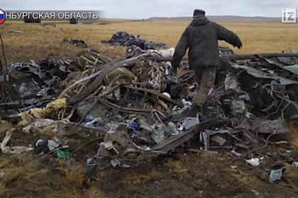 Крушение российского БМД попало на видео