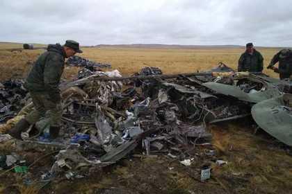 Появились фото рухнувших российских БМД