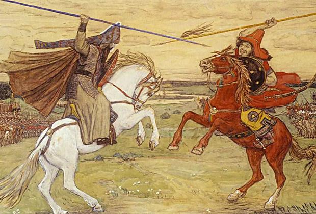 Картина В. М. Васнецова «Поединок Пересвета с Челубеем»