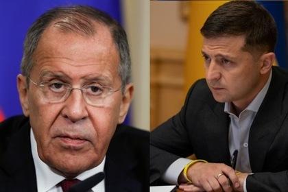 Сергей Лавров и Владимир Зеленский