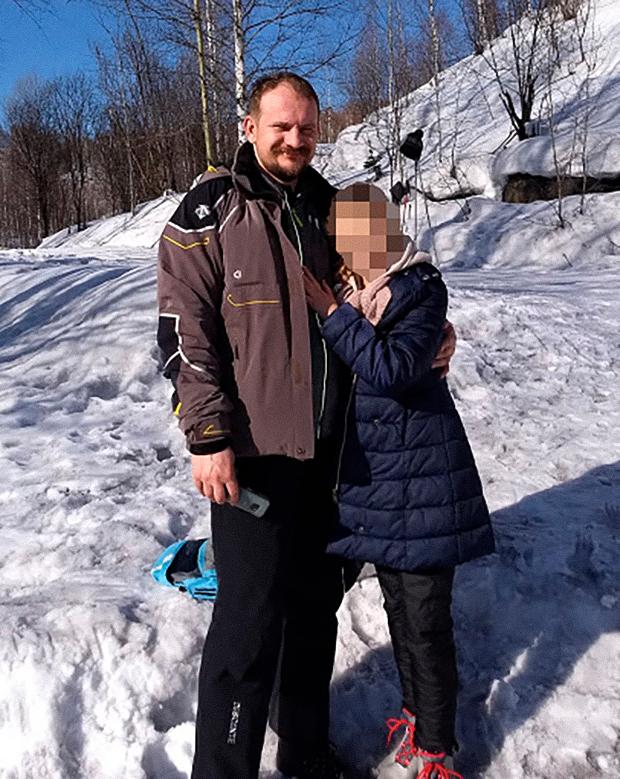 Дмитрий Горбунов с дочерью
