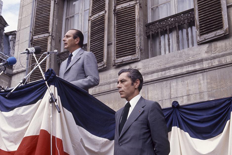 Ширак открывает улицу Жоржа Помпиду в городе Перигё