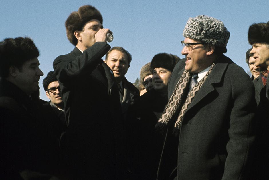 Официальный визит Жака Ширака и Мишеля Д'Орнано в СССР.