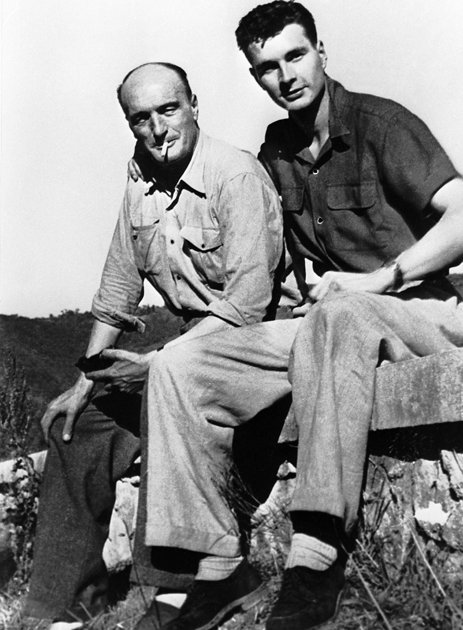 18-летний Жак Ширак с отцом