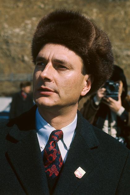Премьер-министр Жак Ширак во время официального визита в СССР