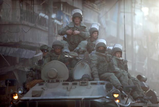 Патруль российских войск в Алеппо