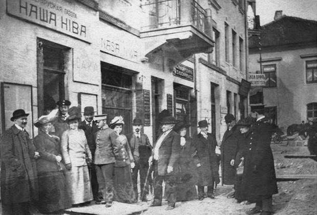 Редакция газеты «Наша Нива», 1907 год