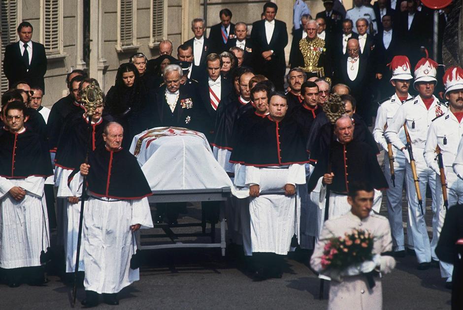 Похороны Грейс Келли в сентябре 1982 года