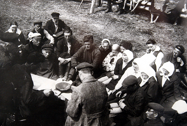 Рабочая встреча в колхозе «Большевик», 1931 год
