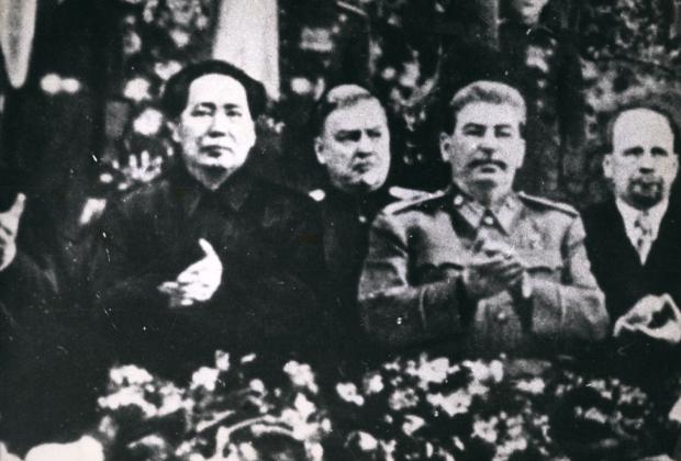 Мао Цзэдун на праздновании 70-летия Иосифа Сталина