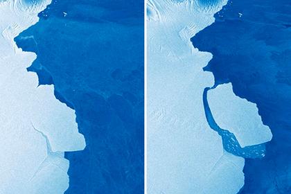От Антарктиды откололся исполинский айсберг