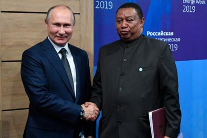 Владимир Путин и Мохаммад Баркиндо