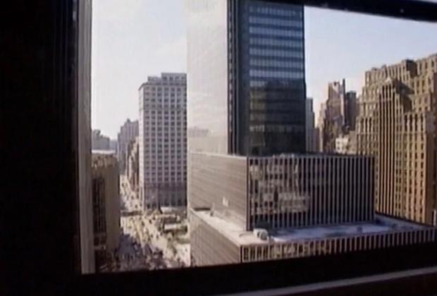 Окно, из которого, предположительно, выпал Фрэнк Олсен