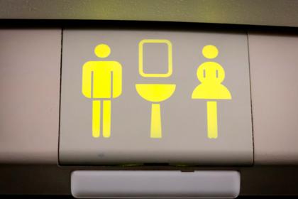 Придуман способ избавиться от очередей в туалеты самолета