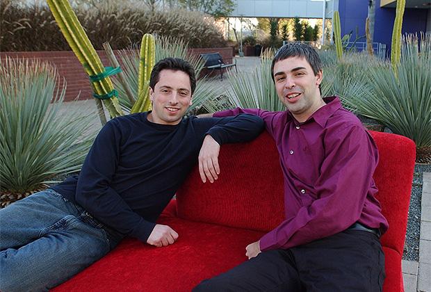 Соучредители Google Сергей Брин (слева) и Ларри Пейдж. 2004 год