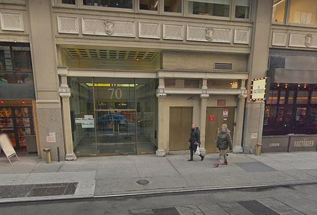 Место новогодней кражи в Нью-Йорке