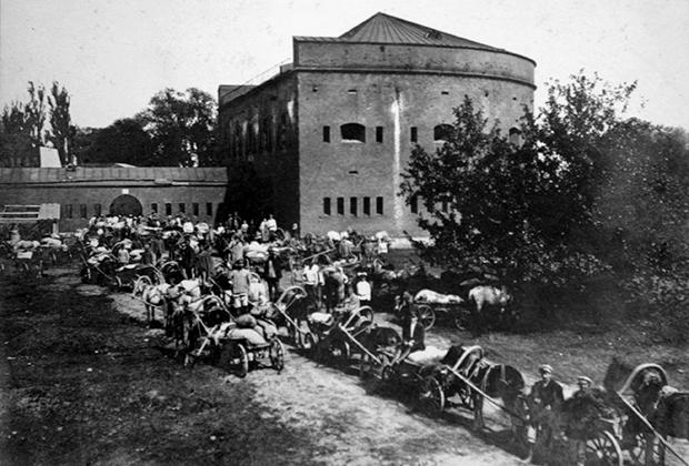 Первый день сдачи единого налога в Бобруйском уезде, 1922 год