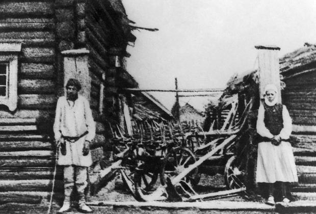 Крестьянский двор белоруса, начало XX века