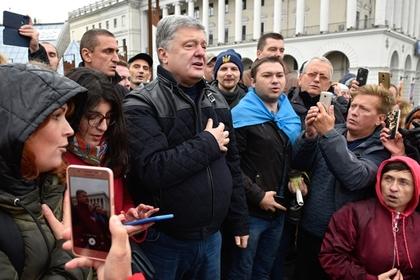 Порошенко не смог уехать на такси после митинга