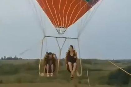 Смертельный полет матери и сына на воздушном шаре попал на видео