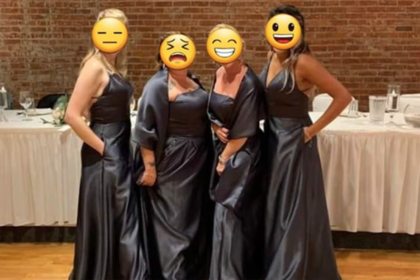 Подружек невесты подняли на смех за похожие на пакеты для мусора платья