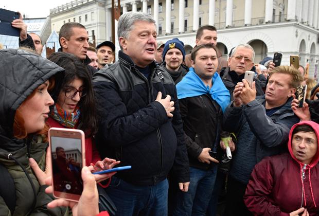 Петр Порошенко на акции «Нет капитуляции»