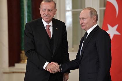 Путин обсудил с Эрдоганом операцию вооруженных сил Турции