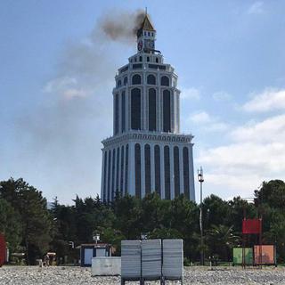 Пожар в гостинице Sheraton
