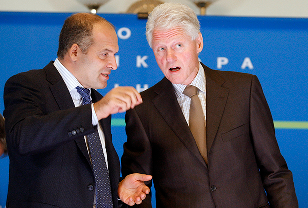 Виктор Пинчук и Билл Клинтон