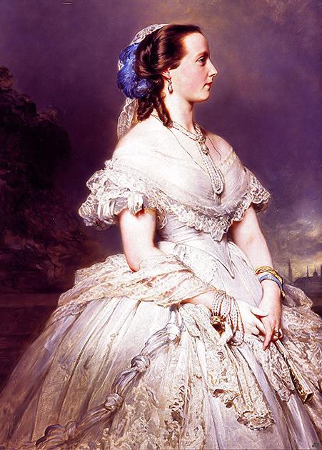 Франц Ксавер Винтерхальтер «Портрет Марии Генриетты Австрийской». Она родила Леопольду трех дочерей и сына, однако король никогда не относился к ним как к родным
